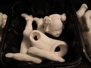 Small Lost Doll after first firing